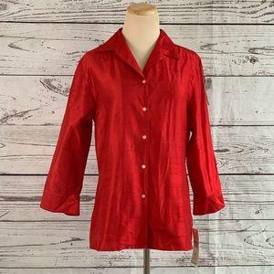 Ralph Lauren red silk blouse